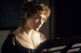 RELEASE DATE: 13 December 1995. MOVIE TITLE: Sense and Sensibility - STUDIO: Columbia Pictures Corporation. PLOT: Rich Mr. Dashwood dies, leaving his second wife and her daughters poor by the rules of inheritance. Two daughters are the titular opposites. PICTURED: KATE WINSLET as Marianne Dashwood